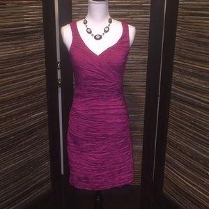 Fuchsia Calvin Klein body con dress nwot